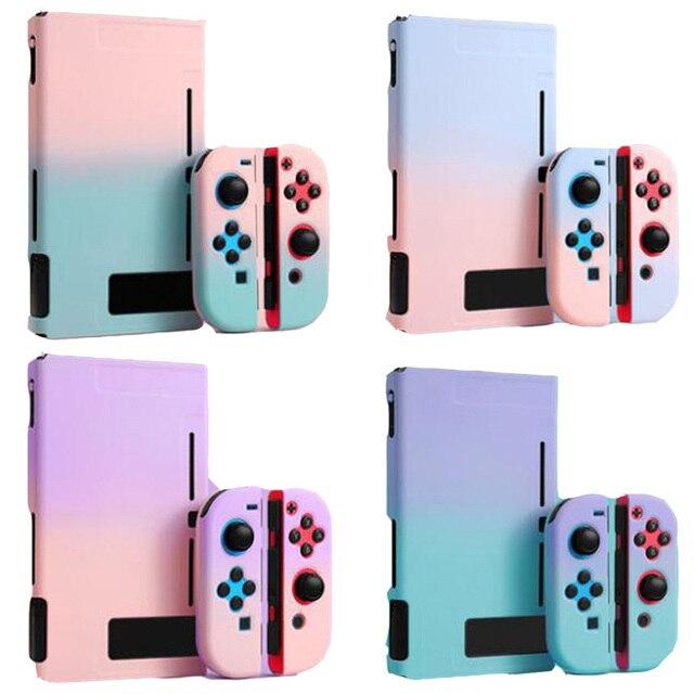 צבעוני קשיח מלא חזרה כיסוי קריסטל מעטפת עבור Nintendo מתג NS קונסולת שמחה קון בקר מגן סרט מדבקת עור מקרה