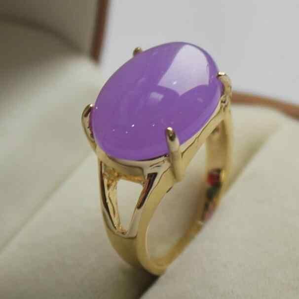 Bijoux bague perle bijoux élégants! Bague en pierres violettes GP préférée de dame (7,8, 9 #) livraison gratuite