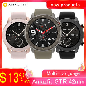 Image 1 - Globale Versione Amazfit GTR 42 millimetri 47 millimetri Huami Astuto Della Vigilanza 5ATM Impermeabile 24 Giorni Batteria GPS di Controllo di Musica di Sostegno per Android IOS