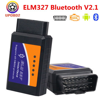OBDII ELM327 Bluetooth OBD2 V2.1 Auto Scanner OBD2 Auto Car ELM 327 Tester Diagnostic Tool for Android Windows image