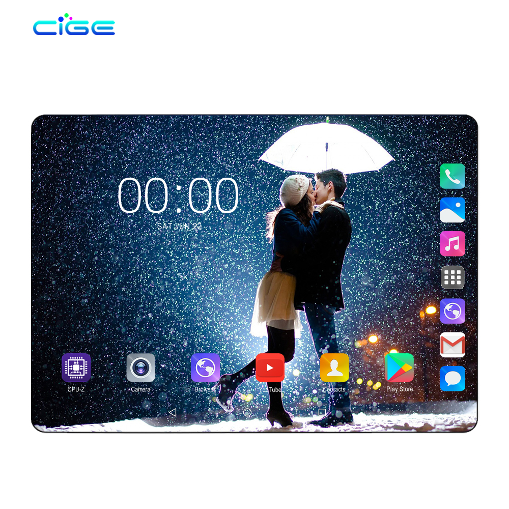 Tablets Android 9.0 Octa Core 10 Inch Tablet PC 6GB RAM 64GB ROM 8.0MP WIFI A-GPS 4G LTE 2.5D Tempered Glass IPS 1280x800