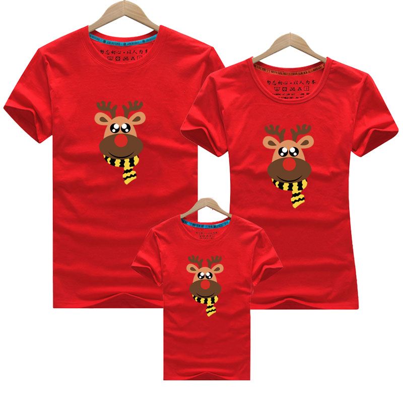2019 Summer Mother And Daughter Clothes Family Matching Outfits Christmas Mommy And Me Look T-shirt Father Mom Son Baby Clothing