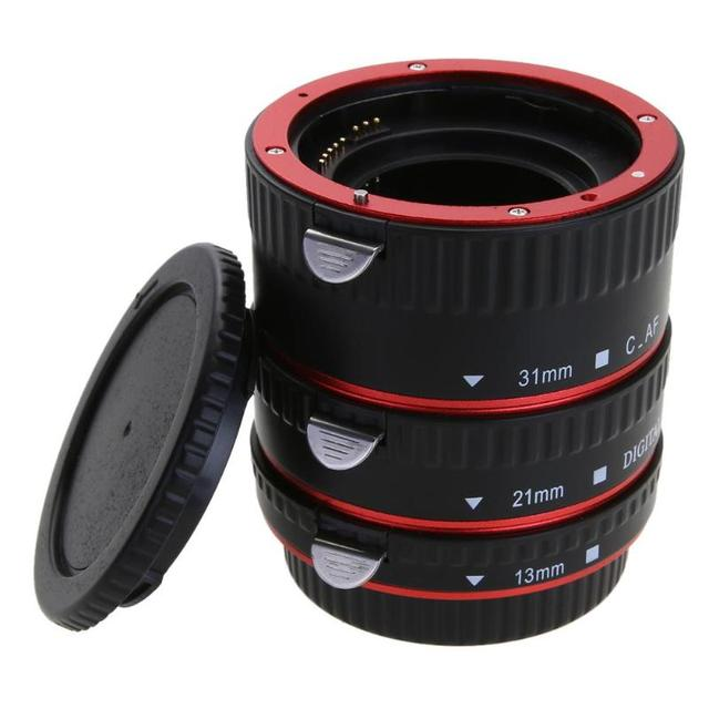 Adaptador de lente de cámara de enfoque automático AF Tubo de extensión Macro/anillo de montaje para objetivo CANON EF S para Canon EOS EF EF S 60D 7D 5D II 550D