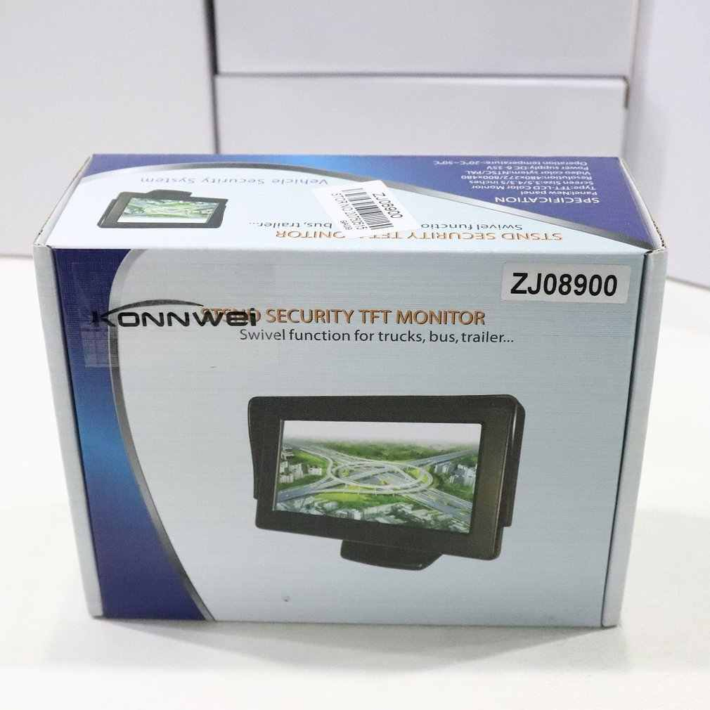 Warna 5 Inci TFT LCD Mini Pandangan Monitor Belakang Mobil Parkir Kaca Layar Monitor untuk DVD VCD Reverse Kamera