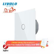 Livolo Standard UE Zigbee smart wifi di Tocco A Muro interruttore della luce, APP di controllo senza fili, il lavoro google casa, alexa, echo, funzione timer