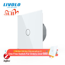 Livolo الاتحاد الأوروبي القياسية زيجبي الذكية واي فاي الجدار مفتاح الإضاءة التي تعمل باللمس ، APP التحكم اللاسلكي ، والعمل جوجل المنزل ، اليكسا ، صدى ، وظيفة الموقت
