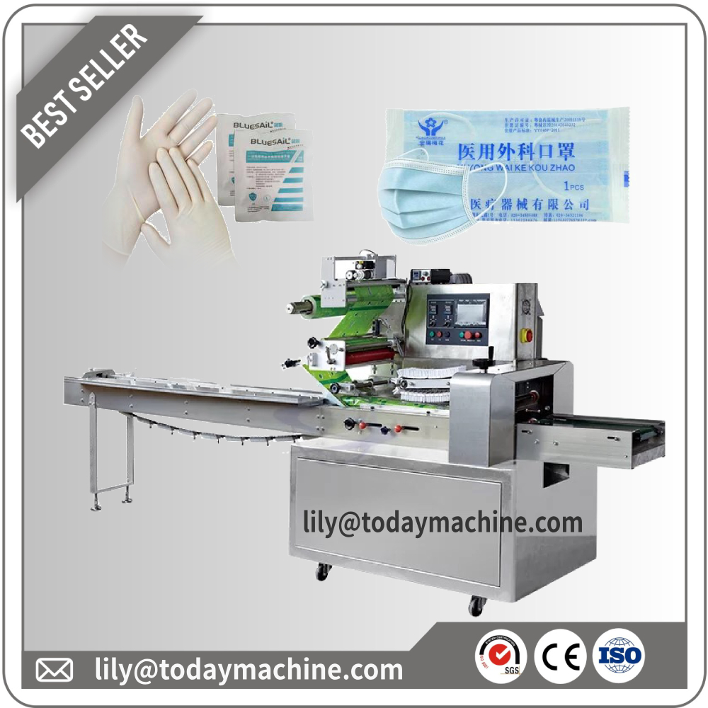 2020 Factory Customized Full Automatic Disposable Surgical Medical Outside Earloop Face Mask Packing Machine