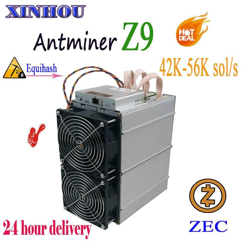 Utilisé asic miner Antminer Z9 42 k-56 k équihash pour l'exploitation minière ZEN ZEC mieux que Bitmain Antminer Z11 Z9mini T17e S17 Innosilicon A9