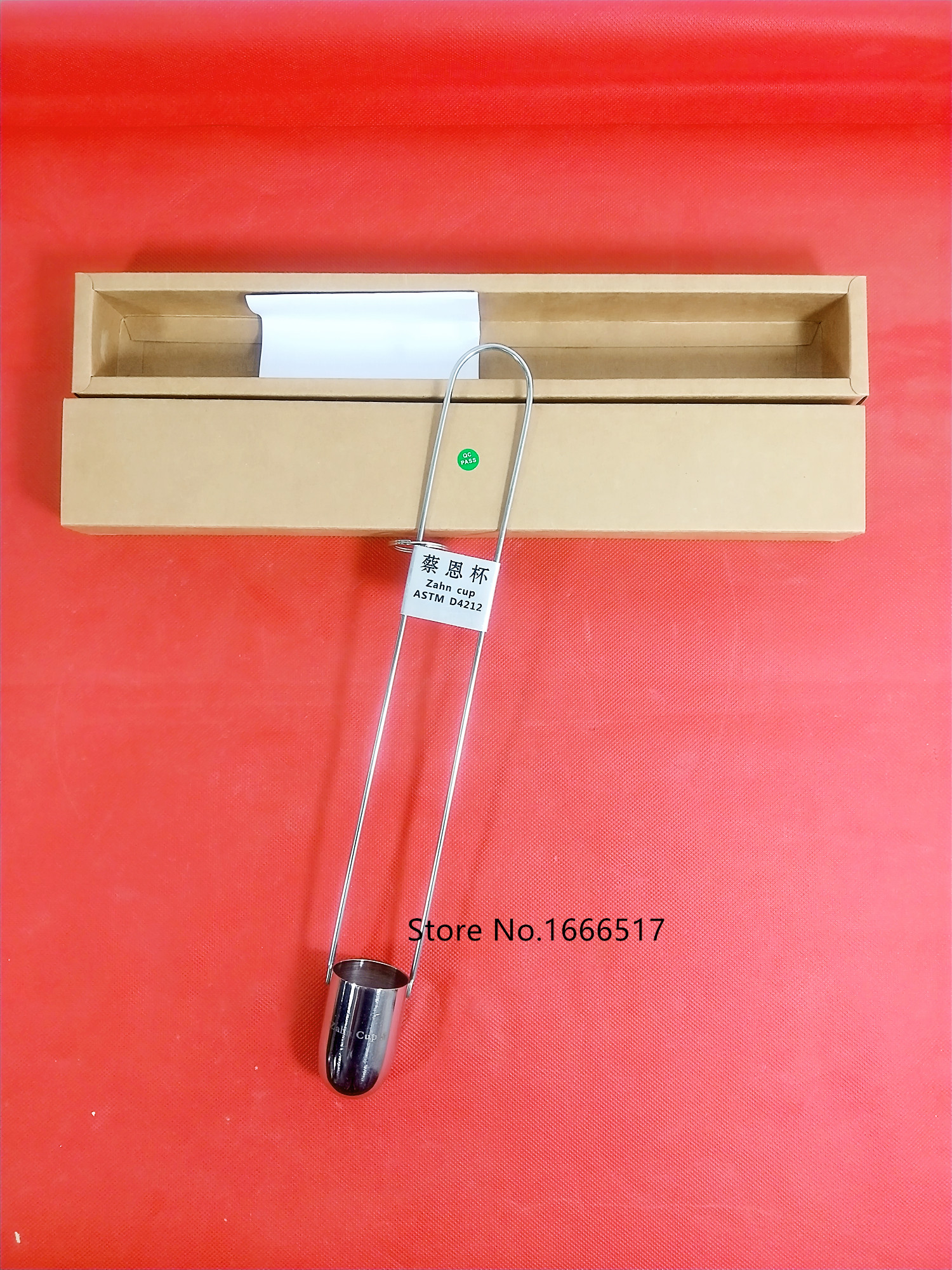 NEW Stainless Steel Zahn Cup Viscosity Cup Viscometer Flow Cup