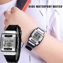 Synoke детские уникальные спортивные часы светящиеся водонепроницаемые