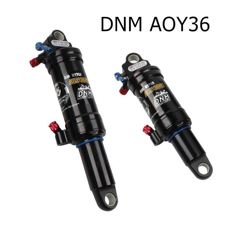 DNM AOY-36RC XC 소프트 테일 mtb 자전거 리어 쇼크 업소버 마운틴 바이크 에어 리어 쇼크 리바운드/락 아웃/에어 압력 조절 가능