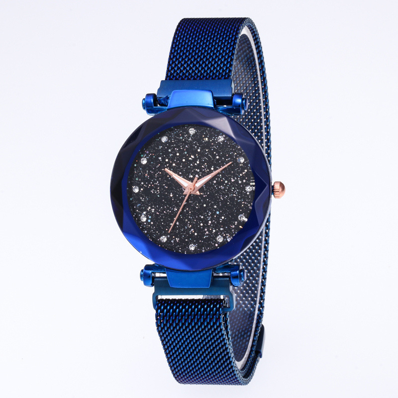 12 Color Starry Sky Watch Women Fashion Casual Magnet Stone Ladies Watch Magnet Milan Strap Female Luxury Brand Quartz Watch