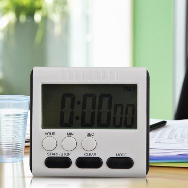 LCD Digital Kitchen Timer Count-Down Up Clock Alarm Cooking Beauty Study