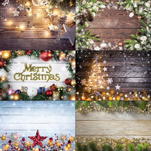Laeacco Рождественский фон для фотосъемки деревянная доска Звездный