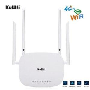 Image 4 - Bộ định tuyến Wifi KuWFi 4G LTE 300Mbps Bộ định tuyến CPE không dây 3G / 4G có khe cắm thẻ Sim Hỗ trợ 4G sang LAN Với 4 chiếc Antenas lên đến 32 người