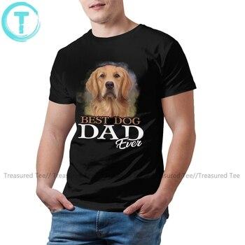 Golden Retriever Dog T Shirt Mens Best Dog Dad Ever Golden Retriever T-Shirt Streetwear Print Tee Shirt Cotton Tshirt men dog print tee