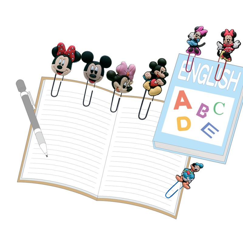 25pcs Cartoon Mickey Bookmarks For Books Minnie Paper Clips Page Holder School Office Supply Stationery For Kids Teacher Gifts