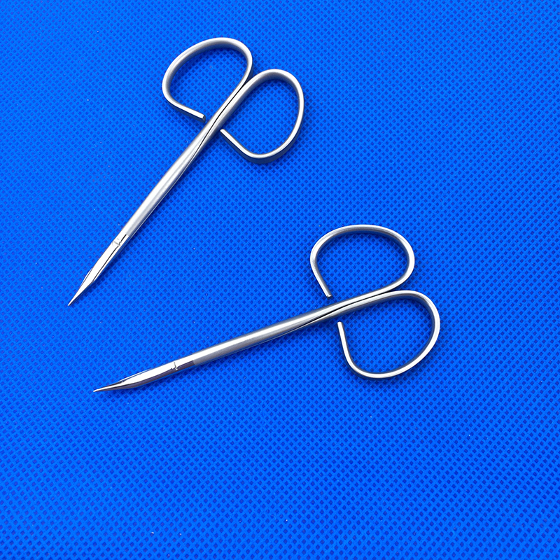 Plastic Surgery Scissors Dental Ophthalmic Surgery Scissors Stainless Steel  Cosmetic Plastic Surgery Double Eyelid