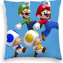 Pillow-Cover Mario-Sofa Mary-Series Super Living-Room Plush Car Short Home Peach-Skin