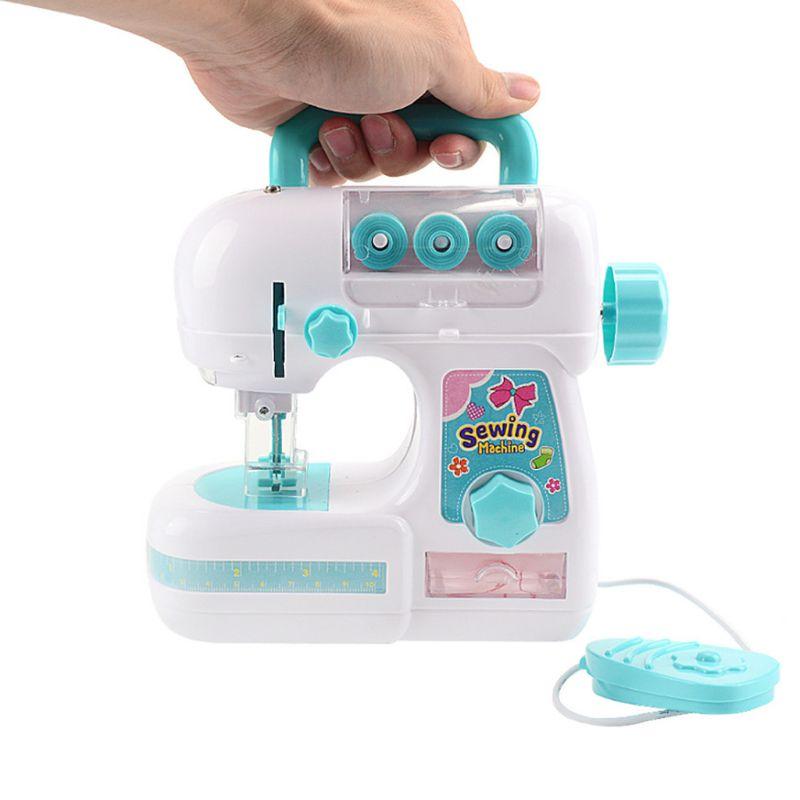 Simulation Mini Sewing Machine Toy Small Appliances Kids Children Girls Pretend Play Prop