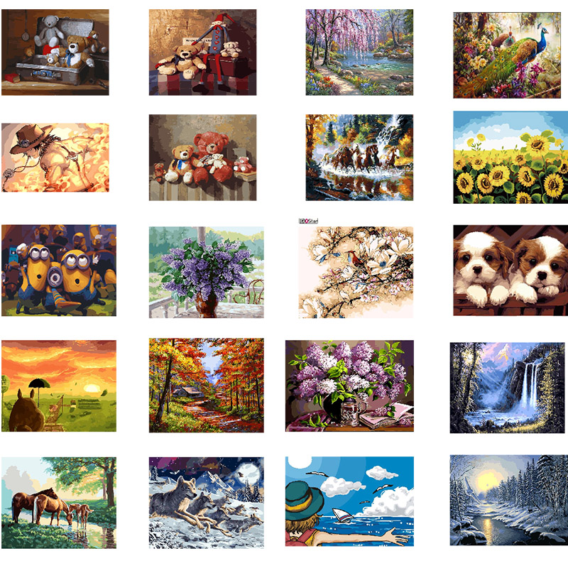 DIY Framed Painting Oil Paint Photo Wall Art By Numbers Digital Pictures Painting Decor For Home Decoration|Painting & Calligraphy| |  - title=
