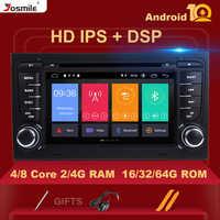 4GB 2 Din Car Radio GPS Android 10 reproductor de DVD de coche para Audi A4 B8 S4 B6 B7 RS4 8E 8H B9Seat Exeo 2002-2008 navegación Multimedia