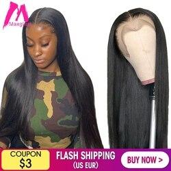 Frente de encaje pelucas de cabello humano recto corto 30 40 pulgadas brasileño Natural peluca Frontal completa sin costuras hd Pre arrancado para las mujeres negras
