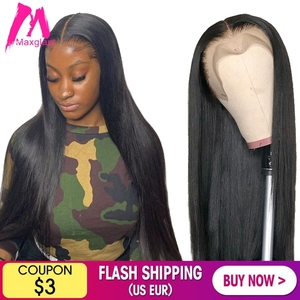 Lace Front Human Hair Wigs Short Straight 30 40 inch Brazilian Natural Frontal Wig Full Glueless hd Pre Plucked For Black Women(China)