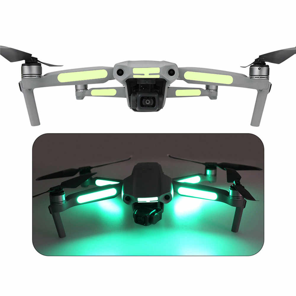 2PCS Night Luminous Decoration Aufkleber für DJI Mavic Air 2 //Mavic Pro RC Drone