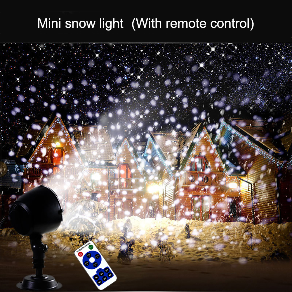 Image 5 - Led Christmas Lights Snowfall Projector IP65 Flurries Falling Outdoor Garden  Lamp Snow spot For led lights decoration-in Holiday Lighting from Lights & Lighting