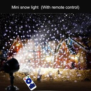 Image 5 - Đèn LED Đèn Giáng Sinh Tuyết Rơi Máy Chiếu IP65 Flurries Rơi Ngoài Trời Đèn Sân Vườn Tuyết Tại Chỗ Cho Đèn Led Trang Trí