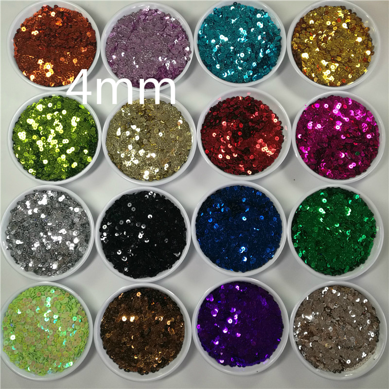 Sequin Pieces Loose Round Flat Art Craft For Sewing Dress Shoes Cap Decoration .