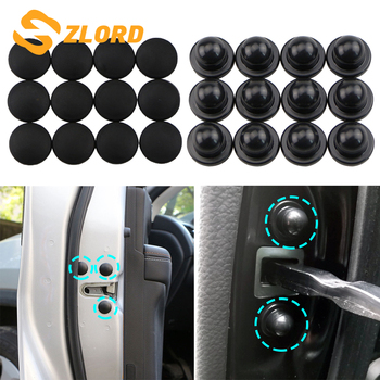 Zlord Car Door Lock Screw Protector Stickers Cover for Land Rover LR4 LR2 Evoque Discovery 2 3 4 Freelander 1 2 Range Rover image