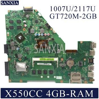 KEFU X550CC Laptop motherboard for ASUS X550CC A550C X550CL R510C original mainboard 4GB-RAM 1007U/2117U CPU GT720M