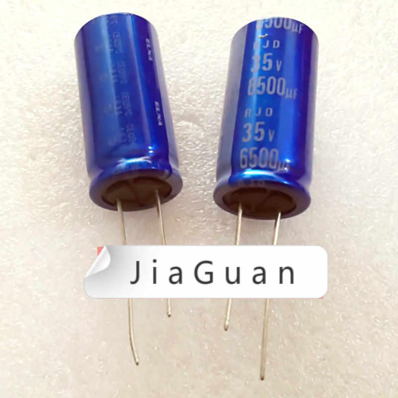 10 шт. Новый ELNA RJD 35V6500UF 18X35MM синий халат 6500 мкФ 35v аудио фильтр электролитический конденсатор rjd 6500 мкФ/35V вместо 5600 мкФ