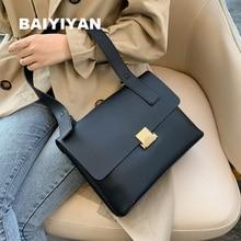 купить BAIYIYAN New Retro High Quality PU Leather Shoulder Bag Women Designer Hasp Handbag Ladies Briefcase Messenger Bags Tote дешево
