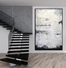 Abstract Painting Contemporary Art Oil Large sizes Gray Vertical Textured Design Artwork Sky Whitman free shipping