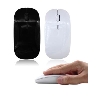 Bezprzewodowa mysz komputerowa 1600 DPI optyczne USB 2 4G odbiornik Super cienki myszka do PC Laptop tanie i dobre opinie ROCKSTICK CN (pochodzenie) 2 4 ghz wireless NONE Optoelektroniczne Mini Dla palców Manipulatory kulkowe Baterii Mar-14