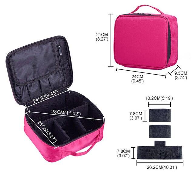 viagem maquiagem profissional maquiagem caixa cosméticos bolsa