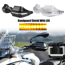 For Suzuki V Strom DL650 DL250 GW250 GSX150 GW250 Motorcycle Hand Guards Brake Clutch Lever Protector Handguard Shield With LED