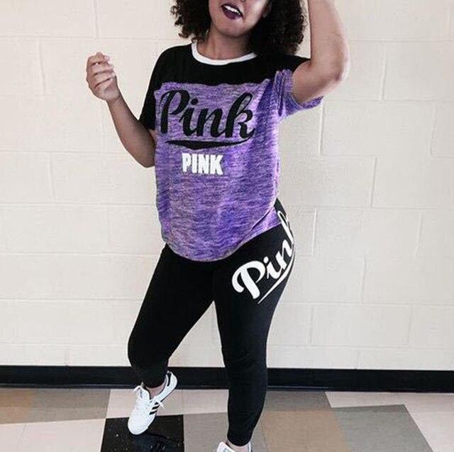 Купить женский розовый спортивный костюм повседневный из двух предметов картинки цена