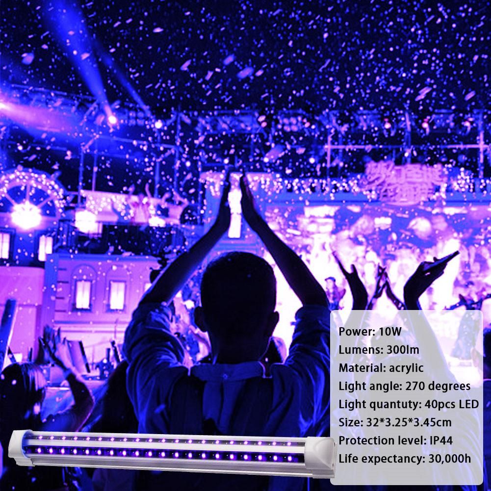 110-240V 5W T5 24LED UV Light Explosion-proof UV Disinfection Lamp LED Purple Light Tube For KTV Bar Party DJ Stage Performances