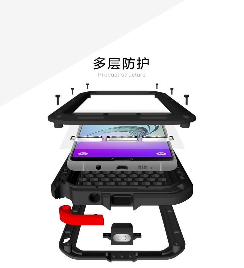 For Samsung Galaxy A3 2016 Case LOVE MEI Powerful IP68 Waterproof Shockproof Metal Case For Samsung Galaxy A310/A310F/A3100