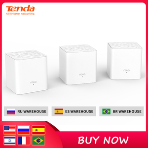 Tenda Nova MW3 Whole Home Mesh WiFi Gigabit System with AC1200 2.4G/5.0GHz WiFi Wireless Router Easy Set up, APP Remote Manage(China)