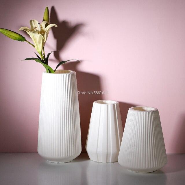 Anti-ceramic Vase 13x20cm  European Home Decorations Plastic Vase Shatter-resistant Wedding Dried Flowers Real Flowers 4