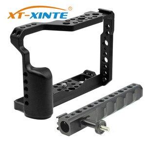 Jaula de aluminio para cámara con mango superior para Fujifilm X-T3 /XT3 /XT2 /X-T2, carcasa protectora para plataforma de vídeo y fotografía DSLR