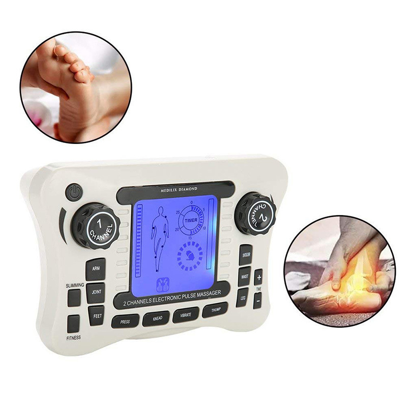 Electric EMS Tens For Back Neck Foot Leg Health Care Machine Tool Acupuncture Body Massager Digital Therapy Kit
