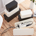Съемная коробка для управления кабелем удобный кабель аккуратный ящик для хранения выключатель питания легко нагревается защита от пыли