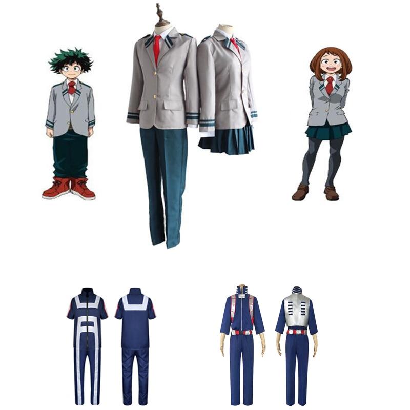 My Boku no Hero Cosplay Academia OCHACO URARAKA Coat Dress Uniforms Costume Set