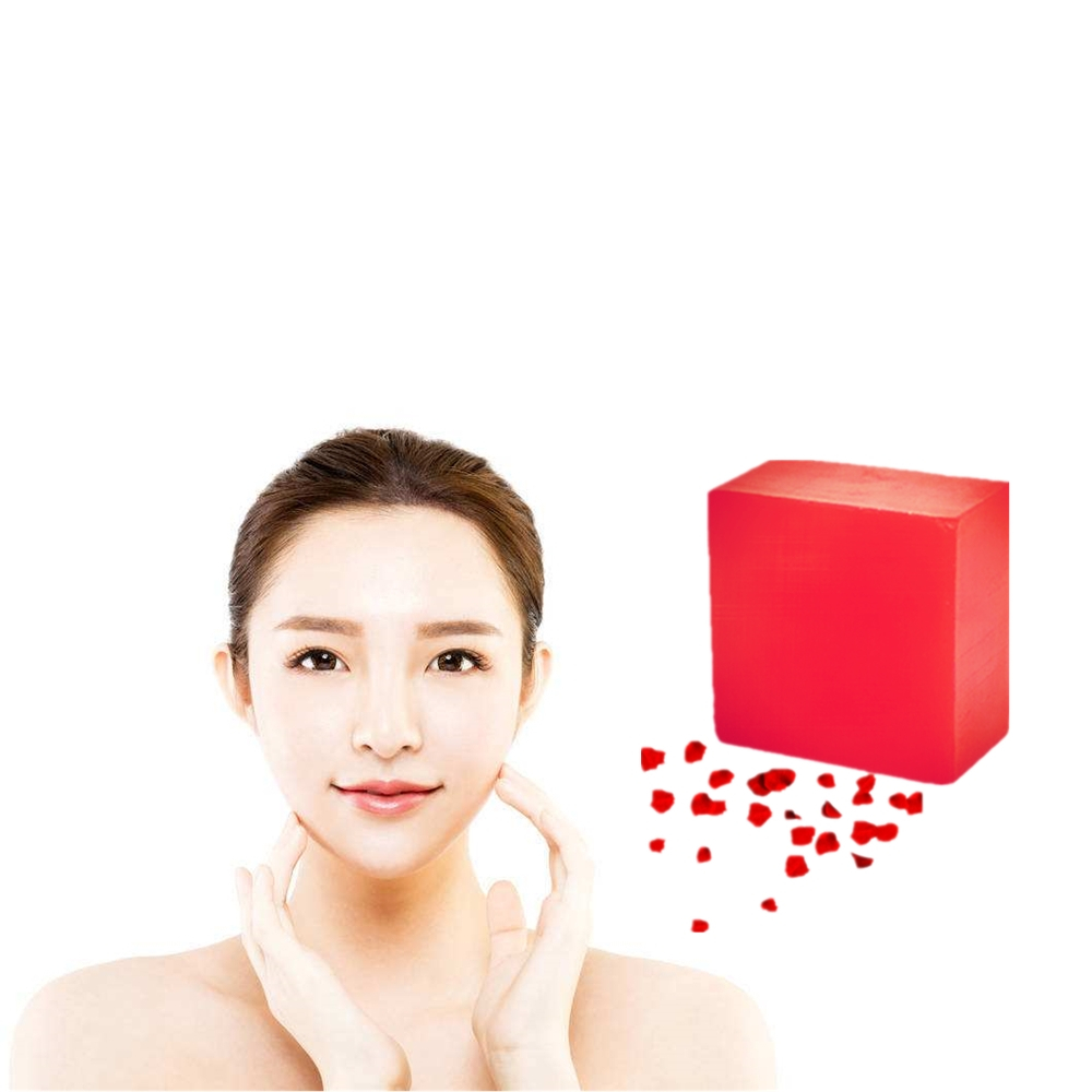 Antiallergic Handmade Rose Soap Activated Plant Crystals Nourish  Skin Care Whitening Soaps For Remove Blackhead Oil Control